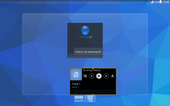 Samsung T535 Galaxy Tab 4 10.1 - Getting started - Installing widgets and applications on your start screen - Step 8
