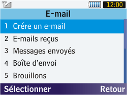 Samsung S3570 Chat 357 - E-mail - envoyer un e-mail - Étape 3