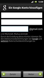 Sony Xperia Sola - Apps - Konto anlegen und einrichten - 7 / 19