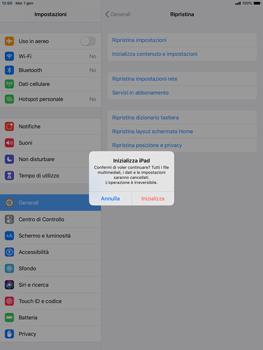 Apple iPad Air (2019) - iPadOS 13 - Dispositivo - Ripristino delle impostazioni originali - Fase 8