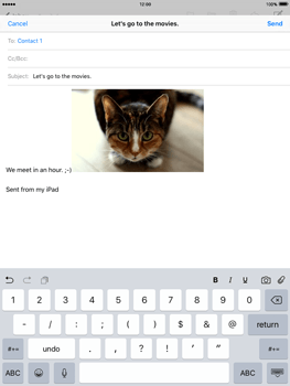 Apple iPad 2 iOS 9 - E-mail - Sending emails - Step 12