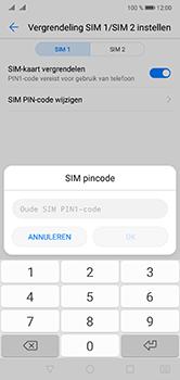 Huawei P20 Lite Dual-SIM (Model ANE-LX1) - Beveiliging en ouderlijk toezicht - Hoe wijzig ik mijn SIM PIN-code - Stap 8