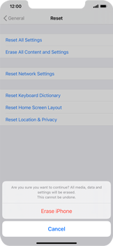 Apple iPhone XS Max - iOS 14 - Mobile phone - Resetting to factory settings - Step 7
