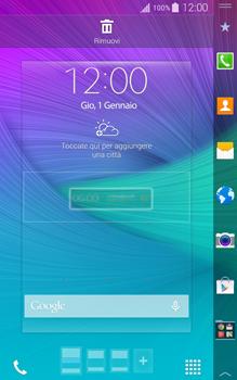 Samsung Galaxy Note Edge - Operazioni iniziali - Installazione di widget e applicazioni nella schermata iniziale - Fase 5