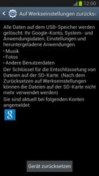 Samsung Galaxy Note II - Gerät - Zurücksetzen auf die Werkseinstellungen - Schritt 6