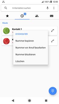 Sony Xperia XZ2 Premium - Anrufe - Anrufe blockieren - Schritt 5