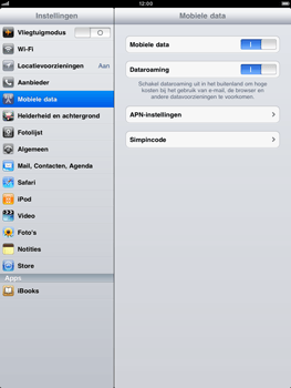 Apple iPad 2 - Internet - handmatig instellen - Stap 3