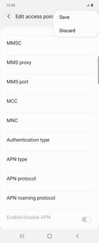 Samsung Galaxy Z flip - Internet and data roaming - Manual configuration - Step 17
