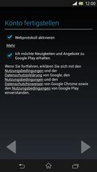 Sony Xperia Z - Apps - Konto anlegen und einrichten - Schritt 12