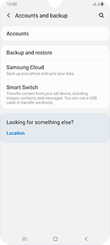 Samsung Galaxy A70 - Data - Create a backup with your account - Step 5
