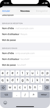 Apple iPhone X - iOS 13 - E-mail - configuration manuelle - Étape 12