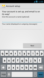 Alcatel One Touch Idol - E-mail - manual configuration - Step 23