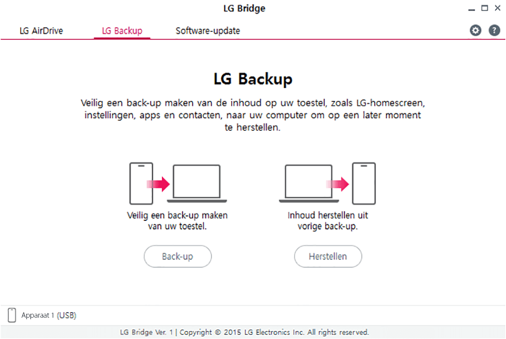 LG Google Nexus 5X H791F - Software - Backup maken van je toestel - Stap 8