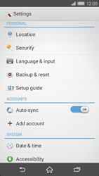 Sony Xperia Z2 - Mobile phone - Resetting to factory settings - Step 4