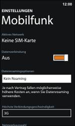 Nokia Lumia 800 / Lumia 900 - Internet und Datenroaming - Deaktivieren von Datenroaming - Schritt 7