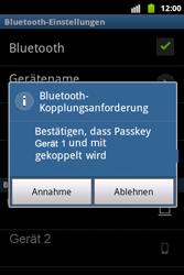 Samsung S5690 Galaxy Xcover - Bluetooth - Geräte koppeln - Schritt 11
