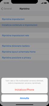 Apple iPhone X - Dispositivo - Ripristino delle impostazioni originali - Fase 7