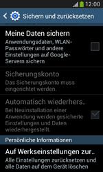 Samsung Galaxy Trend Plus - Fehlerbehebung - Handy zurücksetzen - 8 / 12