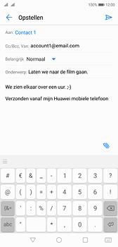Huawei P20 - e-mail - hoe te versturen - stap 9