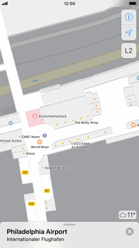 Apple iPhone 7 Plus - iOS 11 - Indoor-Karten (Einkaufszentren/Flughäfen) - 0 / 0