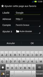 Acer Liquid E3 - Internet - Navigation sur Internet - Étape 7