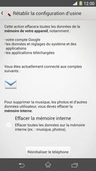 Sony Xperia Z1 - Téléphone mobile - Réinitialisation de la configuration d