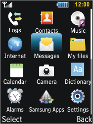 Samsung C3350 Xcover 2 - Voicemail - Manual configuration - Step 3