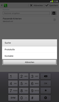 Samsung Galaxy Tab 3 7-0 - Anrufe - Anrufe blockieren - 11 / 15
