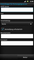 Sony Xperia Sola - E-Mail - Konto einrichten - Schritt 12
