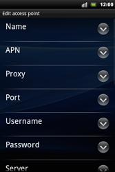 Sony Xperia Mini Pro - Internet - Manual configuration - Step 8