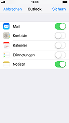 Apple iPhone 5s - iOS 12 - E-Mail - Konto einrichten (outlook) - Schritt 9