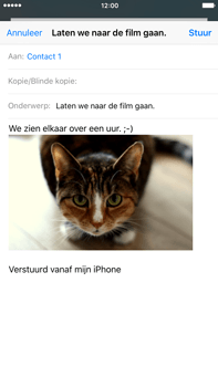 Apple iPhone 6 Plus (iOS 9) - e-mail - hoe te versturen - stap 14
