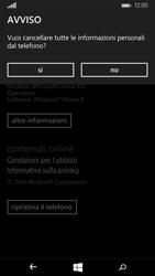 Microsoft Lumia 535 - Dispositivo - Ripristino delle impostazioni originali - Fase 8