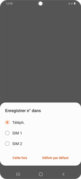 Samsung Galaxy S20+ - Contact, Appels, SMS/MMS - Ajouter un contact - Étape 6