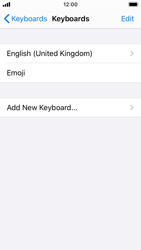 Apple iPhone SE - iOS 13 - Getting started - How to add a keyboard language - Step 6