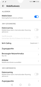 Huawei Mate 20 - Netzwerk - Netzwerkeinstellungen ändern - Schritt 7