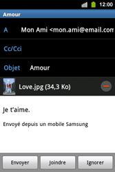 Samsung S5830i Galaxy Ace i - E-mail - envoyer un e-mail - Étape 13