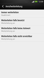 HTC One - Anrufe - Rufumleitungen setzen und löschen - 6 / 9