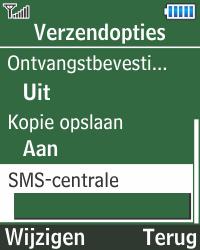 Samsung E1270 - SMS - Handmatig instellen - Stap 7