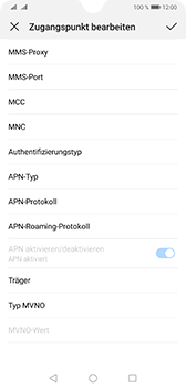 Huawei Mate 20 - Internet - Manuelle Konfiguration - Schritt 15