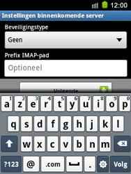 Samsung S5570 Galaxy Mini - E-mail - e-mail instellen: IMAP (aanbevolen) - Stap 10