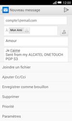 Alcatel Pop S3 (OT-5050X) - E-mail - envoyer un e-mail - Étape 10