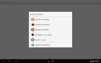 Sony SGP321 Xperia Tablet Z LTE - E-mail - envoyer un e-mail - Étape 10