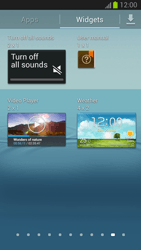 Samsung Galaxy S III - Getting started - Installing widgets and applications on your start screen - Step 5