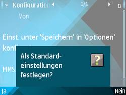 Nokia E71 - MMS - Automatische Konfiguration - Schritt 11