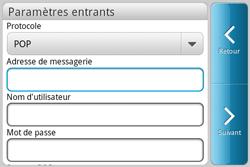 HTC A810e ChaCha - E-mail - Configuration manuelle - Étape 6