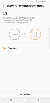 Samsung Galaxy Note 8 (SM-N950F) - Contacten en data - Contacten kopiëren van SIM naar toestel - Stap 13