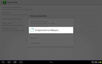 Samsung Galaxy Tab 2 10.1 - Réseau - Sélection manuelle du réseau - Étape 9