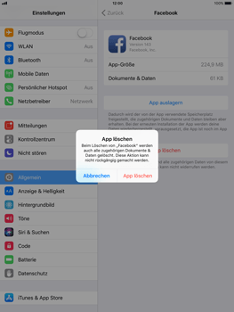 Apple iPad Air - Apps - Apps deinstallieren - 6 / 7