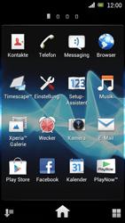 Sony Ericsson Xperia Ray mit OS 4 ICS - Fehlerbehebung - Handy zurücksetzen - Schritt 5